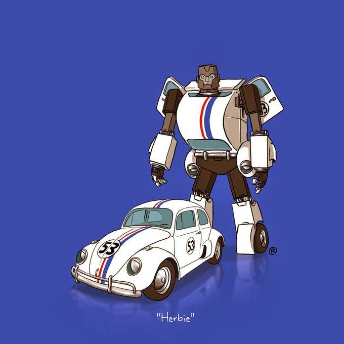 Даррен Роулингс: Если бы машины из культовых фильмов были трансформерами. Изображение № 10.