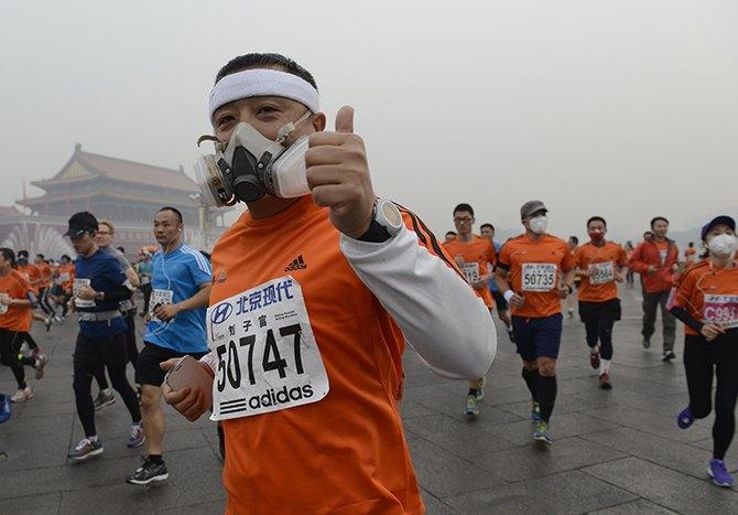 Марафон в Пекине прошел в респираторах из-за густого смога. Изображение № 4.