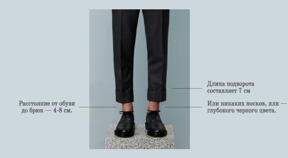 Коротко и ясно: Как правильно носить укороченные брюки. Изображение №4.