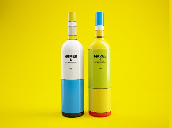 Художники из России посвятили дизайн винных бутылок «Симпсонам». Изображение № 4.