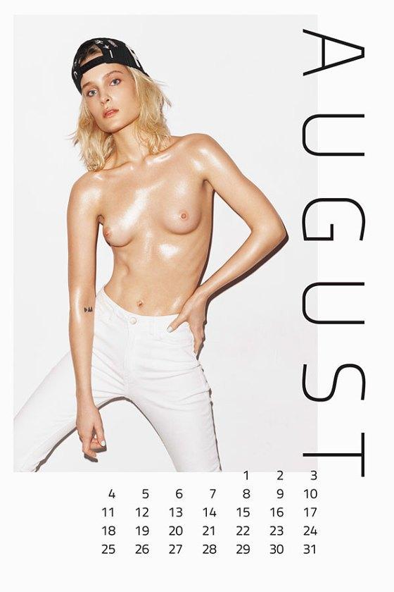 Польская модель Шарлотта Томас снялась для календаря MISBHV. Изображение № 9.
