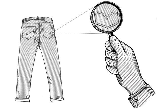 Внимание к деталям: Откуда взялась строчка на заднем кармане джинсов. Изображение № 1.