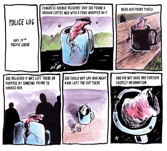 Police Log Comics: Абсурдные полицейские сводки в формате комиксов. Изображение № 2.