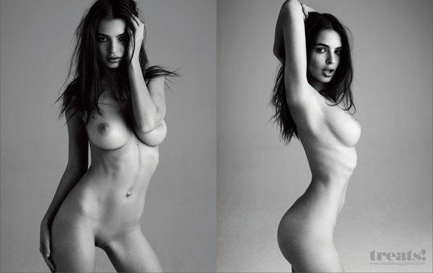 Модель Эмили Ратажковски снялась обнаженной для журнала Treats. Изображение № 3.