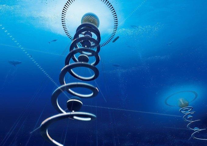 Японская компания планирует построить подводный город. Изображение № 1.