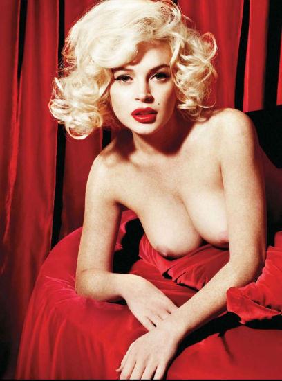 Актриса Линдси Лохан снялась для журнала Playboy. Изображение № 8.