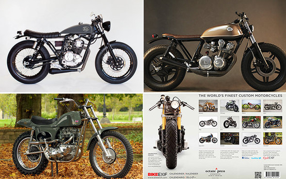 Календарь с кастомизированными мотоциклами сайта Bike EXIF. Изображение № 3.