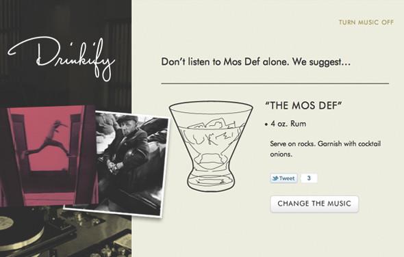 Сервис Drinkify поможет подобрать выпивку под любимую музыку. Изображение № 7.