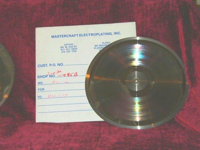 Мастер-диск альбома Sun Ra продается за $ 20 000 на аукционе eBay . Изображение № 1.