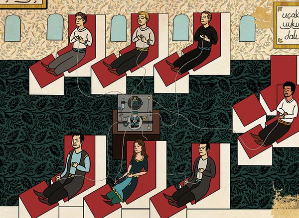 Турецкий художник изобразил кадры из известных фильмов в стиле миниатюр времен Османской империи. Изображение № 30.