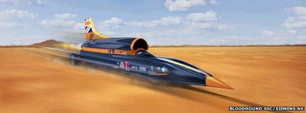 Норвежский сверхзвуковой болид собирается установить абсолютный рекорд скорости. Изображение № 1.