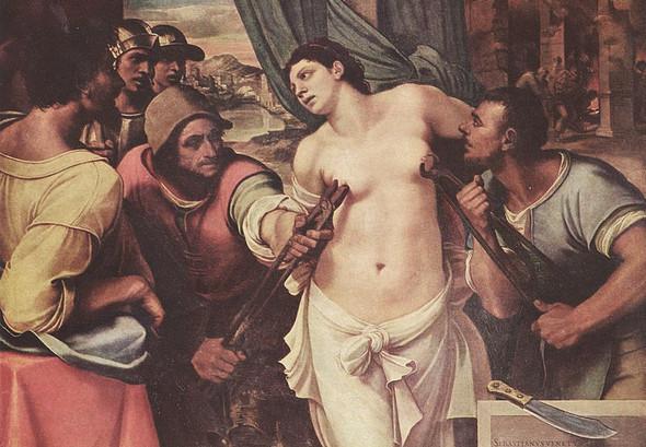 Себастьяно дель Пьомбо «Мученичество святой Агаты», 1520. Изображение № 9.