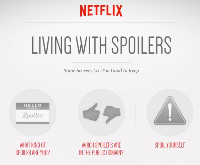 Netflix запустил сервис со спойлерами к сериалам . Изображение № 1.