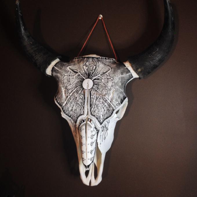 Питер Дроус: Пирография на черепах диких зверей. Изображение № 12.