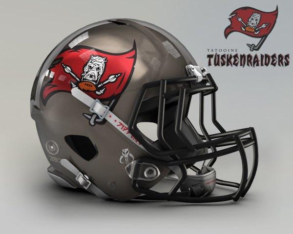 Мексиканец создал коллекцию футбольных шлемов, посвящённую «Звёздным войнам». Изображение № 15.