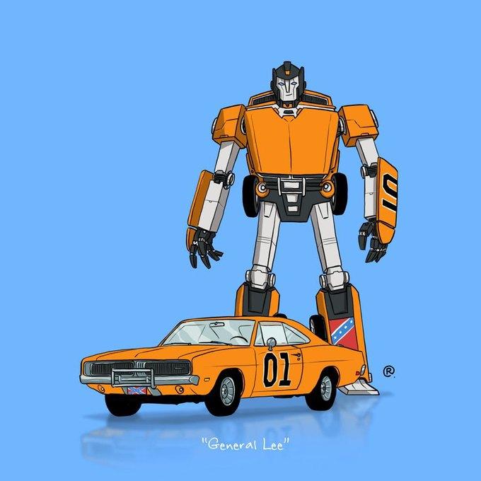 Даррен Роулингс: Если бы машины из культовых фильмов были трансформерами. Изображение № 14.