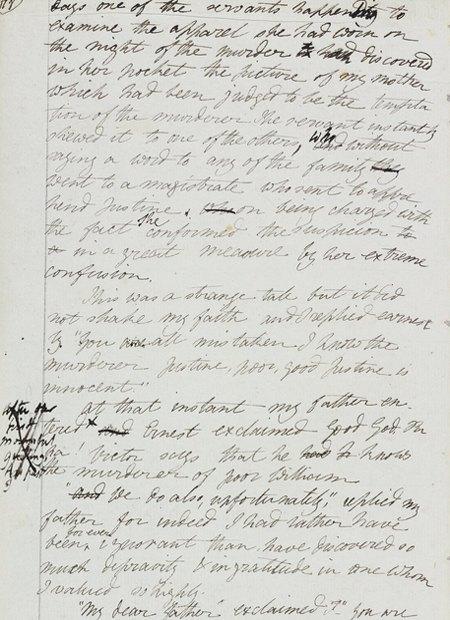 Рукопись романа «Франкенштейн» опубликована в сети. Изображение № 2.