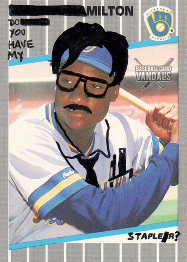 Baseball Card Vandals: Художники иронизируют над спортивными коллекционными карточками. Изображение № 23.
