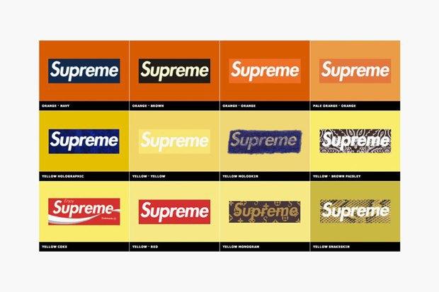 Магазин Kopbox собрал в архив все разновидности логотипа марки Supreme. Изображение № 1.