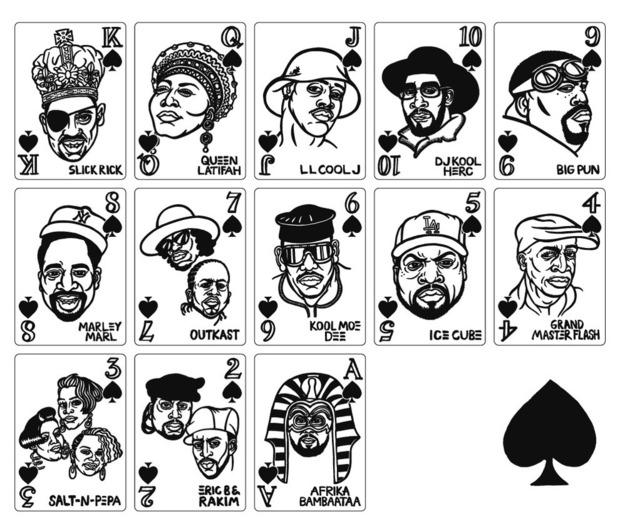 В Японии выпустили игральные карты с хип-хоп-музыкантами. Изображение № 1.