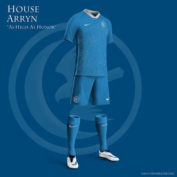 Испанский дизайнер создал футбольную форму для «Игры престолов» . Изображение № 3.