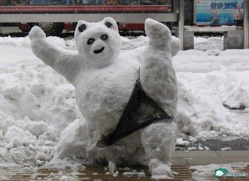 Что ты лепишь: Альтернативные снеговики со всего мира. Изображение №9.