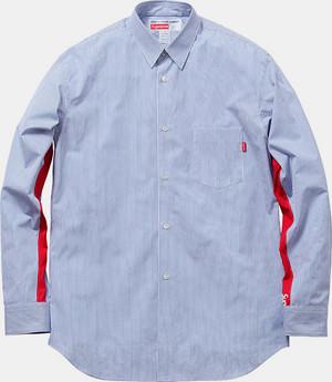 Марки Supreme и Comme des Garсons Shirt выпустили лукбук совместной коллекции одежды. Изображение № 15.
