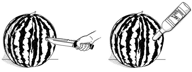 Совет: Как сделать крюшон из арбуза. Изображение № 4.