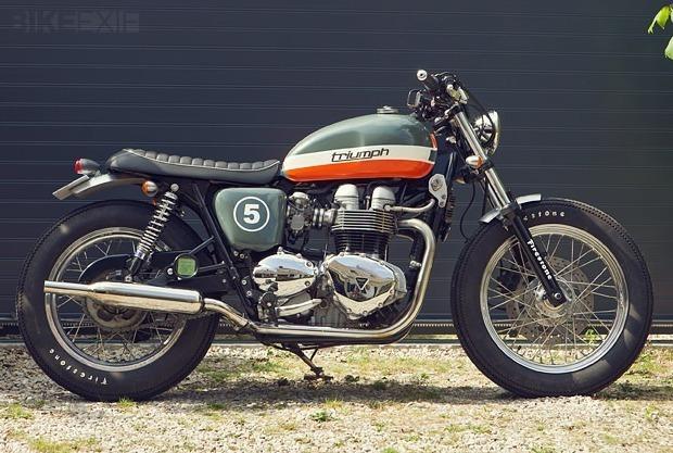 Французский механик собрал кастом культовой модели Triumph Bonneville T100. Изображение № 1.