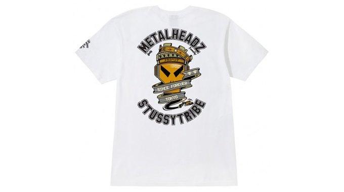 Марка Stussy поздравила лейбл Metalheadz с 20-летием выпуском футболок. Изображение № 2.