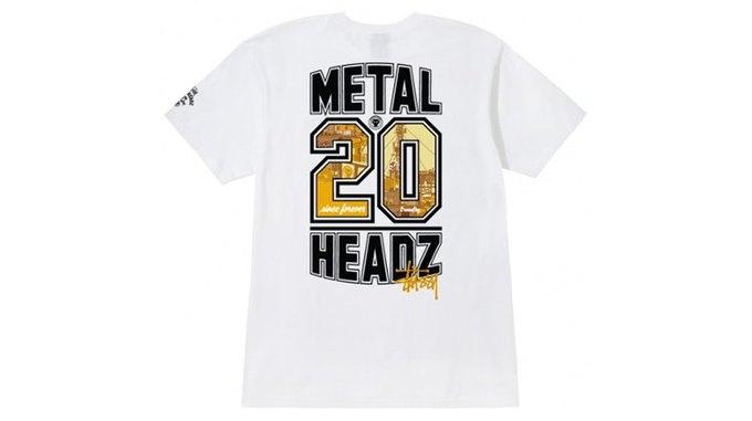 Марка Stussy поздравила лейбл Metalheadz с 20-летием выпуском футболок. Изображение № 1.