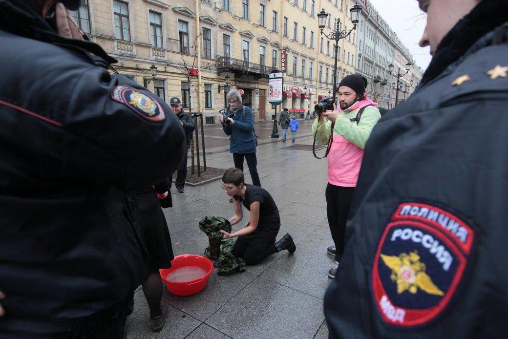 В Петербурге прошла акция «Милитаризированный уик-энд». Изображение № 3.