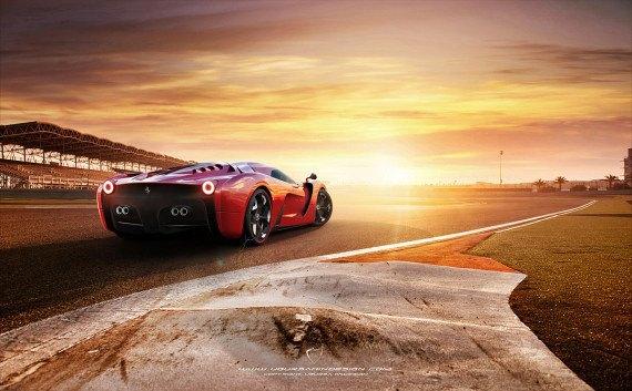 Представлен новый концепт суперкара на базе Ferrari 458 Italia. Изображение № 6.