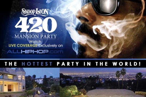 Снуп Лайон устроит прямую трансляцию со своей «укуренной» вечеринки. Изображение № 1.