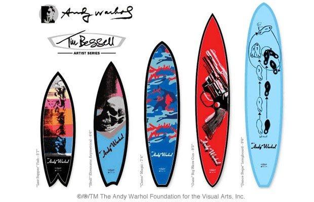 Марка Bessell выпустила доски для серфинга с картинами Энди Уорхола. Изображение №7.