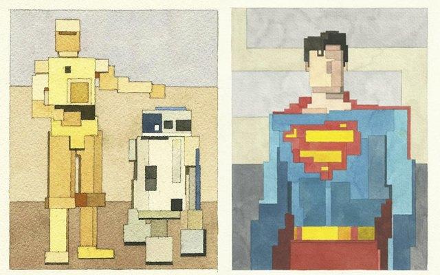 Адам Листер: Иконы поп-культуры в 8-битной живописи. Изображение № 11.