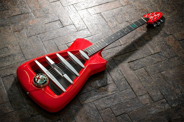 Мастерская Harrison Custom Guitar представила гитару Alfa Romeo. Изображение № 1.