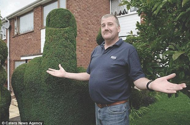 Английская полиция попросила убрать неприличный куст в виде среднего пальца. Изображение № 3.