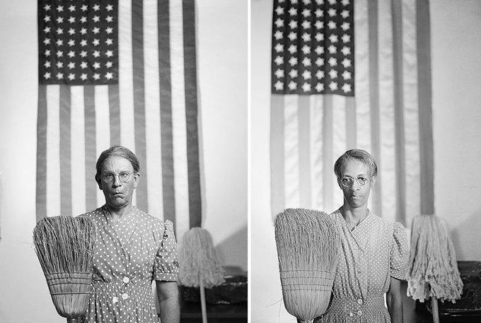 Джона Малковича пересняли на манер культовых фотографий. Изображение № 5.