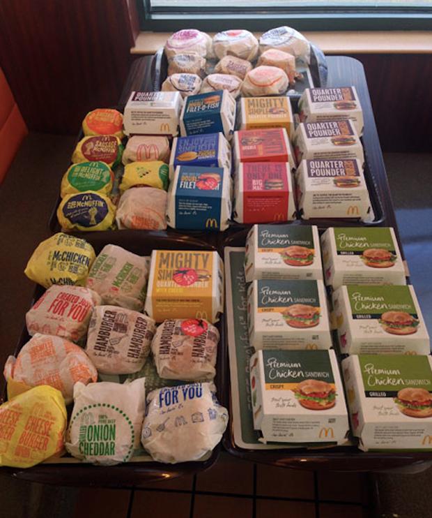Американец приготовил огромный сэндвич из всех бургеров в «Макдоналдс». Изображение № 1.