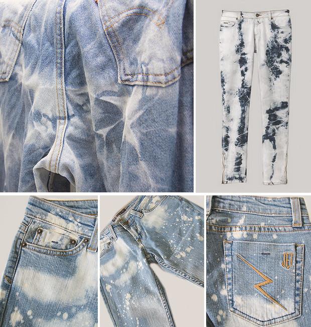 Кастет, краска и вышитые инициалы: Как кастомизировать любимую пару джинсов. Изображение № 15.