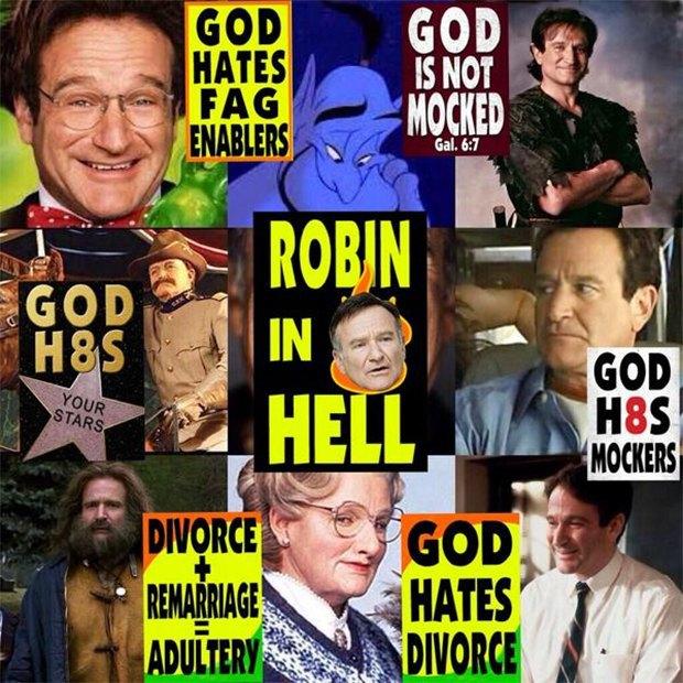 Баптисты пожелали Робину Уильямсу «вечных мук в аду». Изображение № 1.