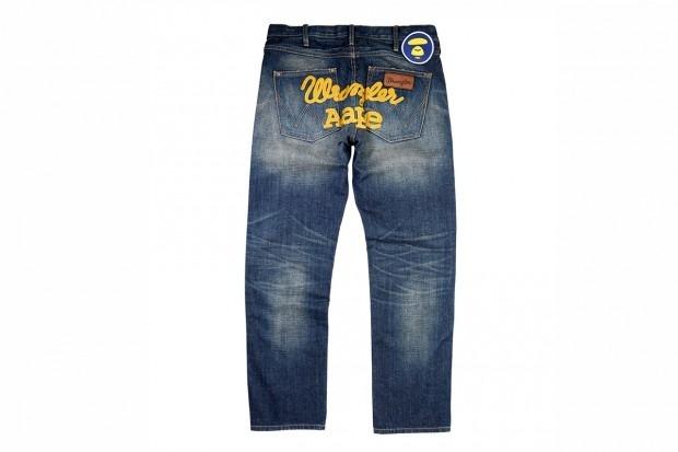 A Bathing Ape представила совместную коллекцию своей линейки Aape и джинсовой марки Wrangler . Изображение № 8.