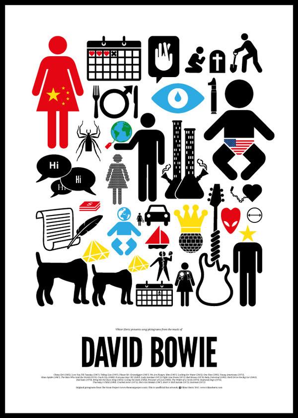 Шведский иллюстратор сделал серию плакатов с зашифрованными названиями песен легендарных музыкантов. Изображение № 4.