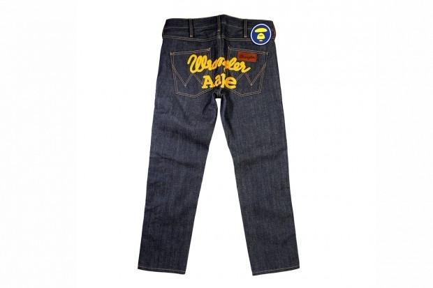 A Bathing Ape представила совместную коллекцию своей линейки Aape и джинсовой марки Wrangler . Изображение № 6.