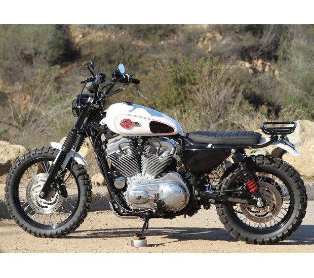 Мастерская Burly Brand представила скрэмблер на основе Harley-Davidson Sportster. Изображение № 9.