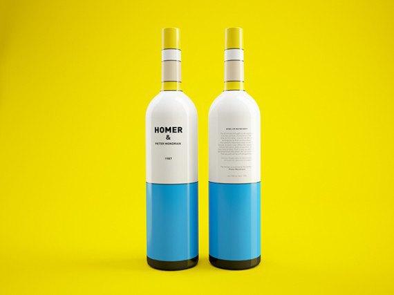 Художники из России посвятили дизайн винных бутылок «Симпсонам». Изображение № 3.