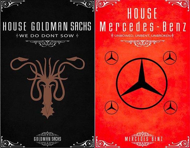 Как выглядели бы логотипы брендов в мире «Игры престолов». Изображение № 4.