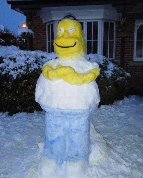 Что ты лепишь: Альтернативные снеговики со всего мира. Изображение №22.