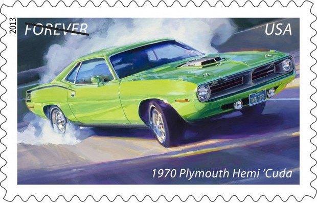 Почта США выпустила коллекцию марок с изображением легендарных маслкаров. Изображение № 3.